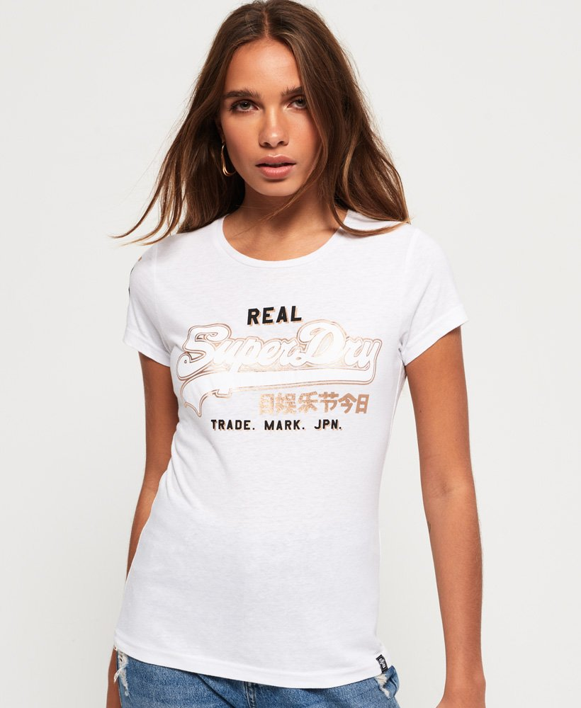 Superdry T-shirt à logo Vintage bi-métallisé thumbnail 1