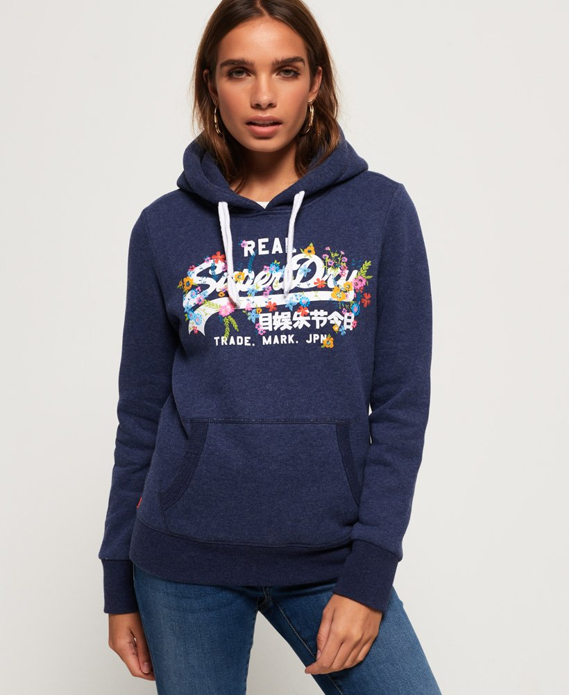 Superdry Vintage Logo Puff Embroidery Hoodie thumbnail 1
