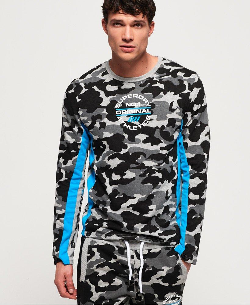 Superdry T-shirt camouflage à manches longues Trophy thumbnail 1