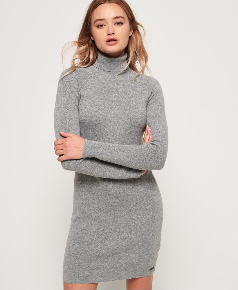 Superdry Nordic Knit Funnel Neck-kjole