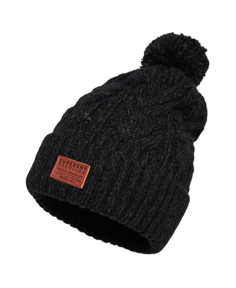 Bonnet à Pompon Jacob noir SUPERDRY
