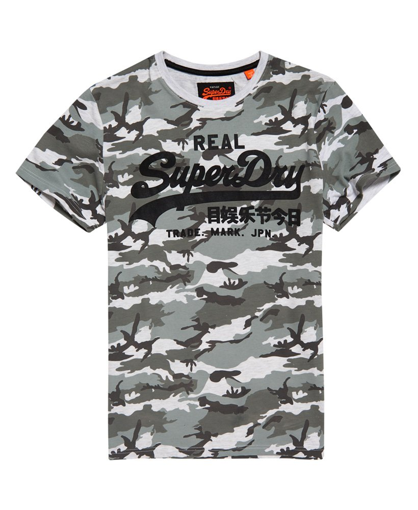 Superdry Vintage Logo All Over Print T Shirt Mens T Shirts