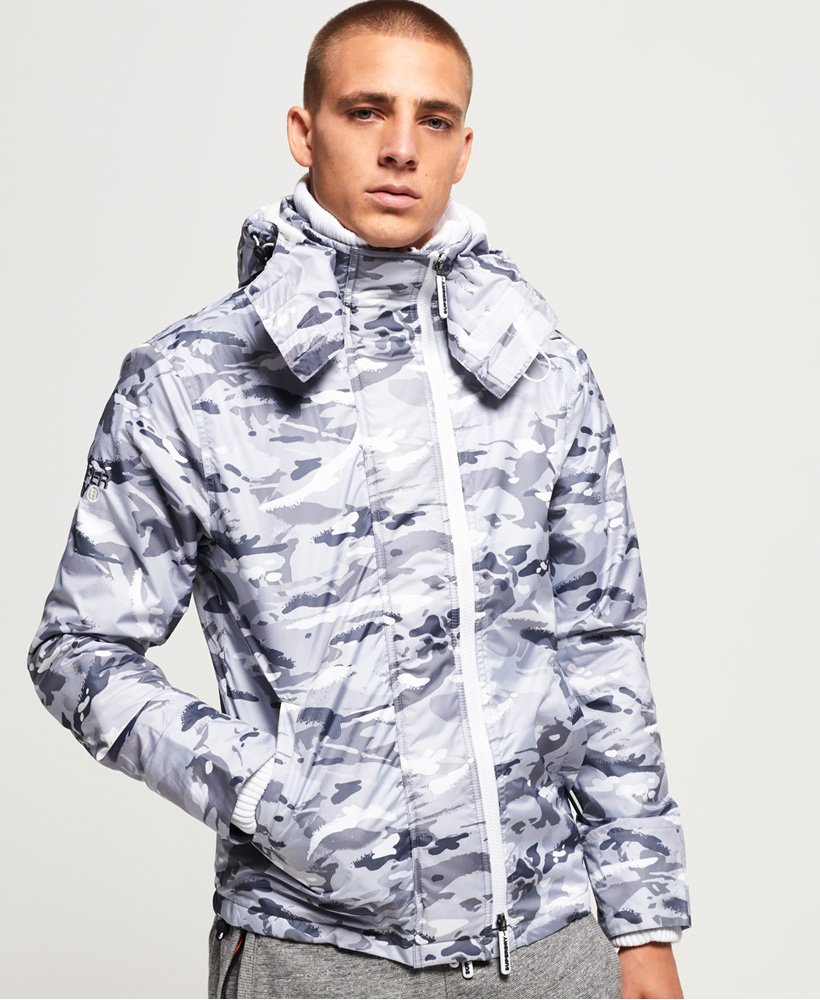 Superdry Arctic Hooded Print Pop Zip SD-Windcheater Jacket thumbnail 1