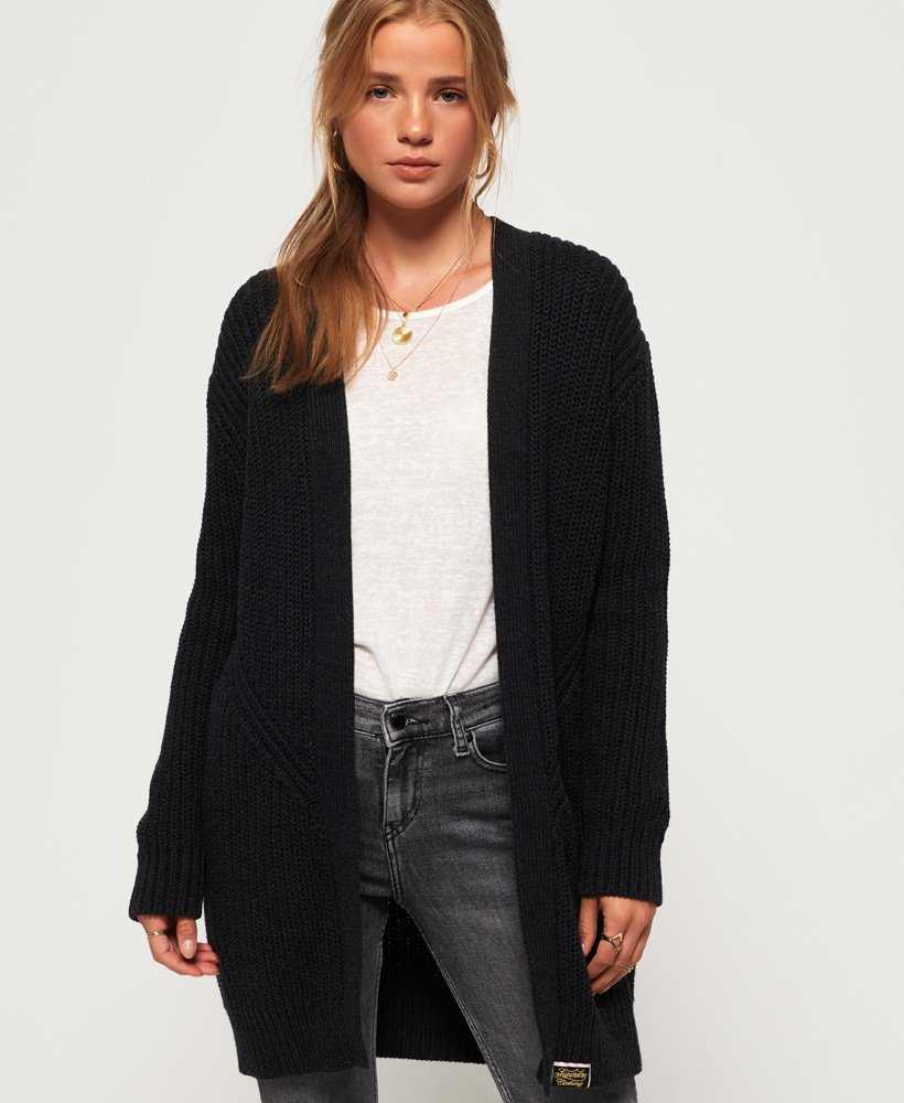 Superdry Brooke Ribbed Cardigan thumbnail 1