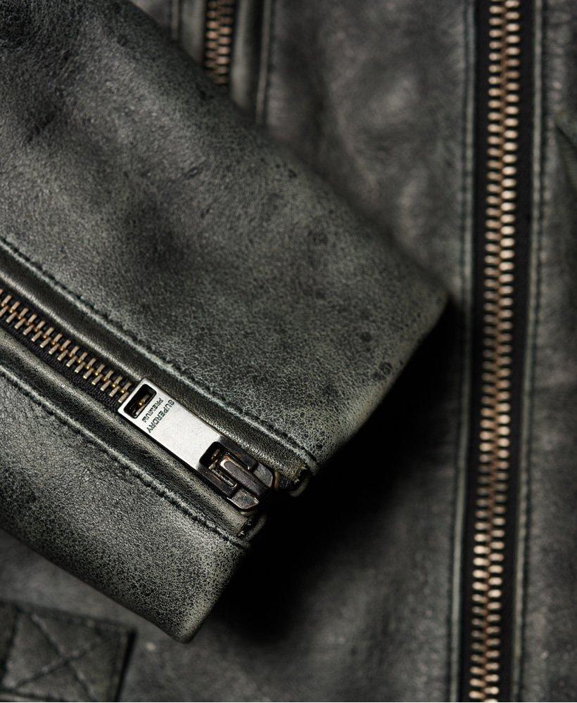 Superdry Premium Classic nahkatakki Miehet Takit