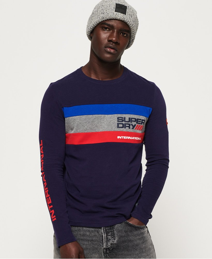 Superdry Trophy Tri Colour Long Sleeve T-Shirt