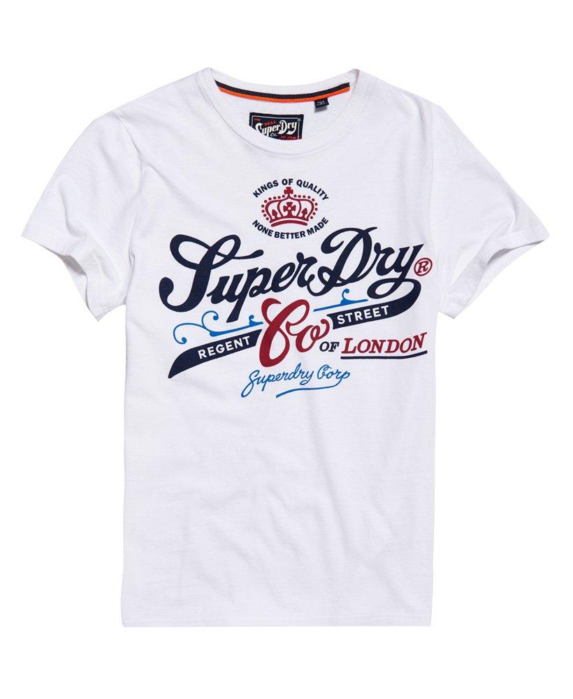 Mens - Regent Street Flagship T-Shirt in Optic   Superdry 76685044b7