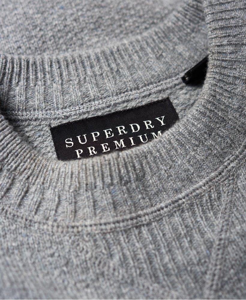 Superdry Premium Pique genser med rund hals Herre Gensere