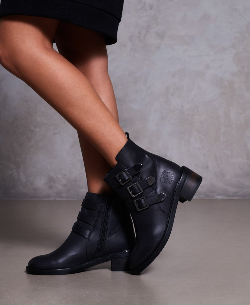 Womens - Cheryl Military Boots in Black