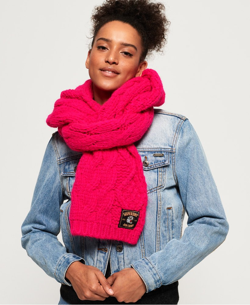 Superdry Chic Regal Cable Scarf thumbnail 1