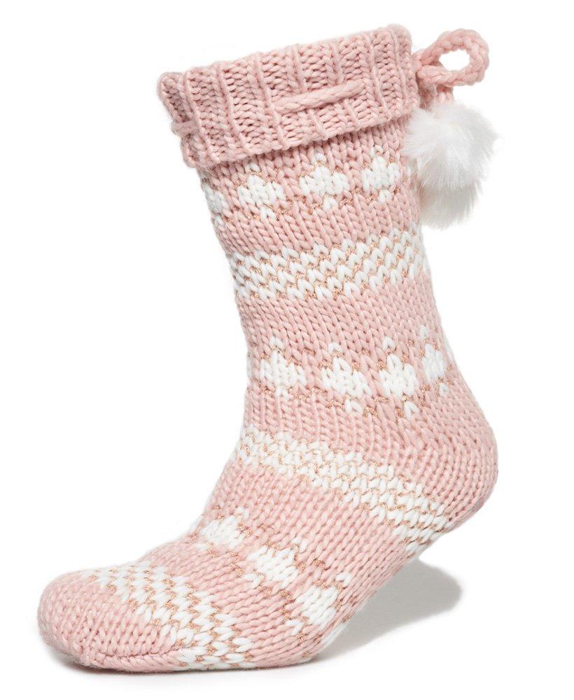 Superdry Sparkle Fairisle Slipper Socks thumbnail 1