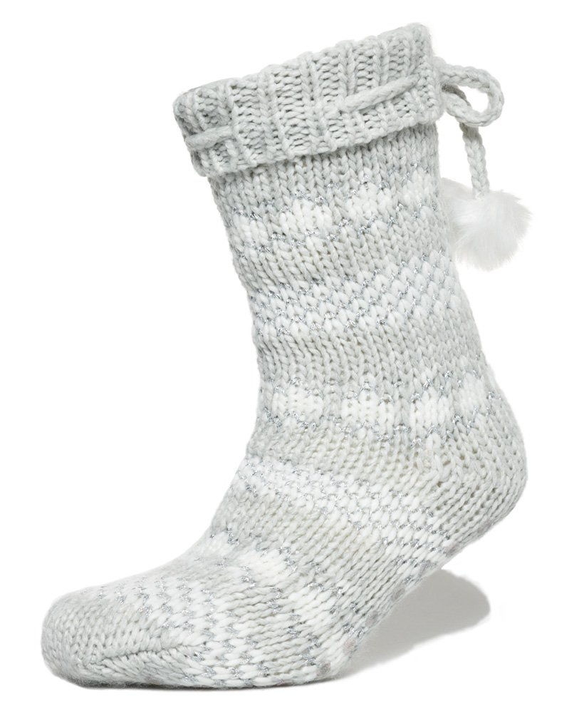 Superdry Sparkle Fairisle Slipper Socks thumbnail 1