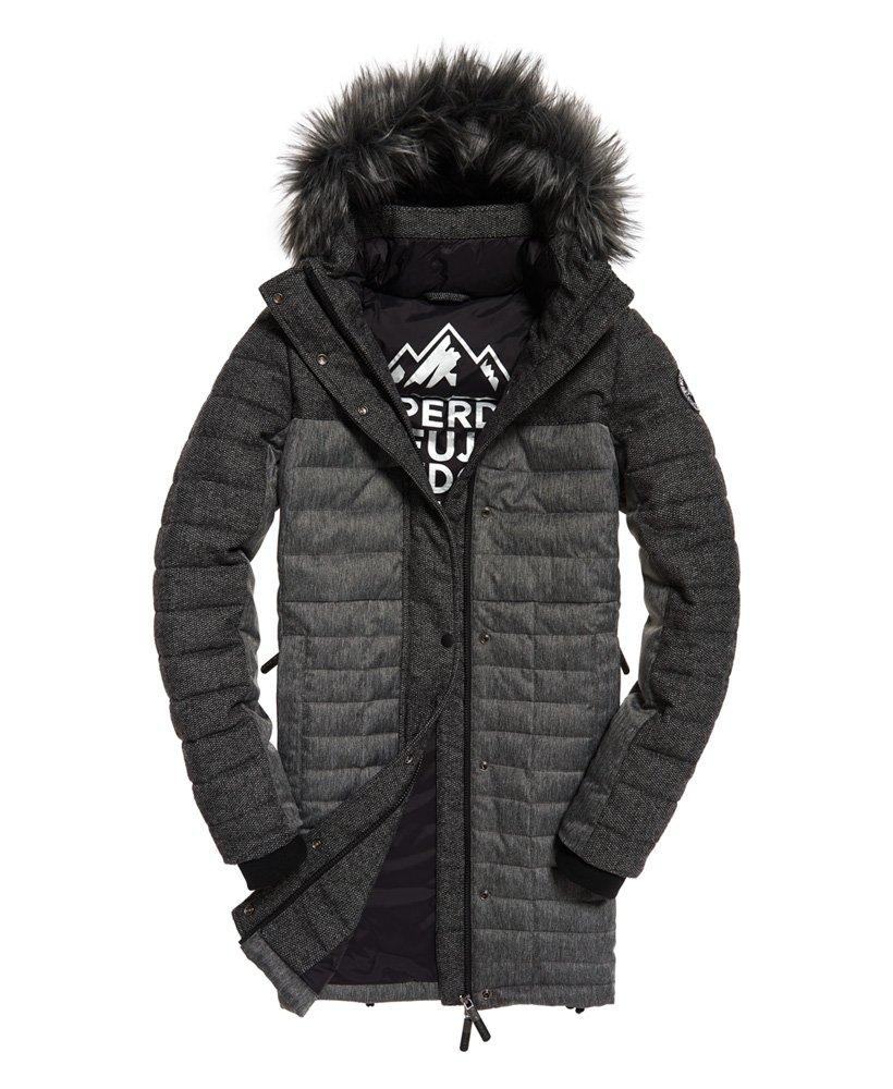 Superdry Elements Tweed Hooded Parka Jacket