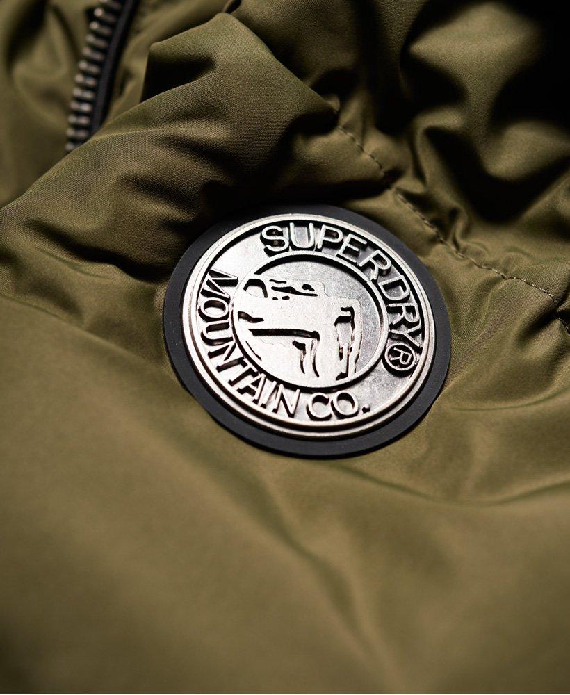 Womens Horizon Padded Jacket In Khaki Superdry