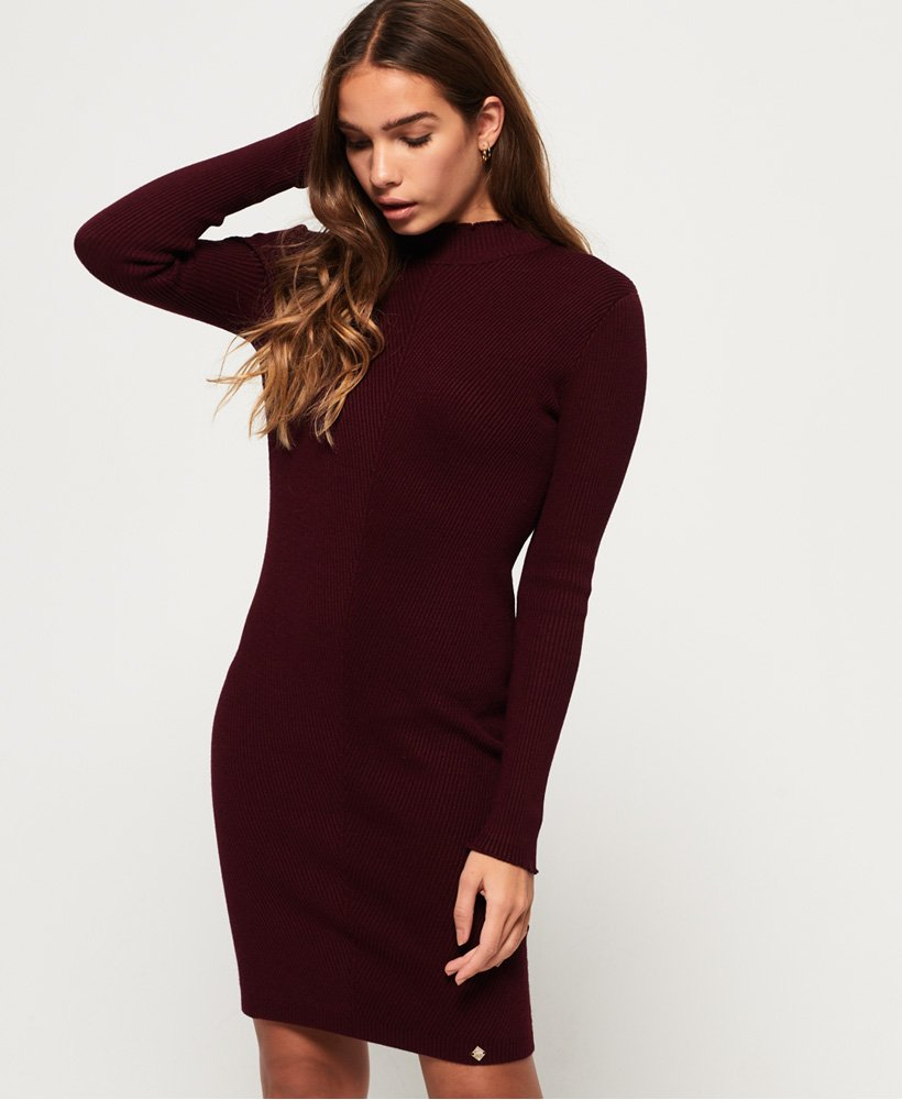 Superdry Liana Ribbed Knit Dress