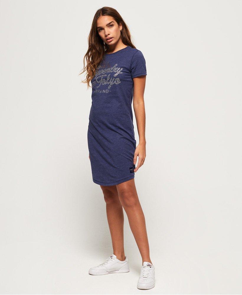 Superdry Anise T Shirt Kleid Damen Kleider