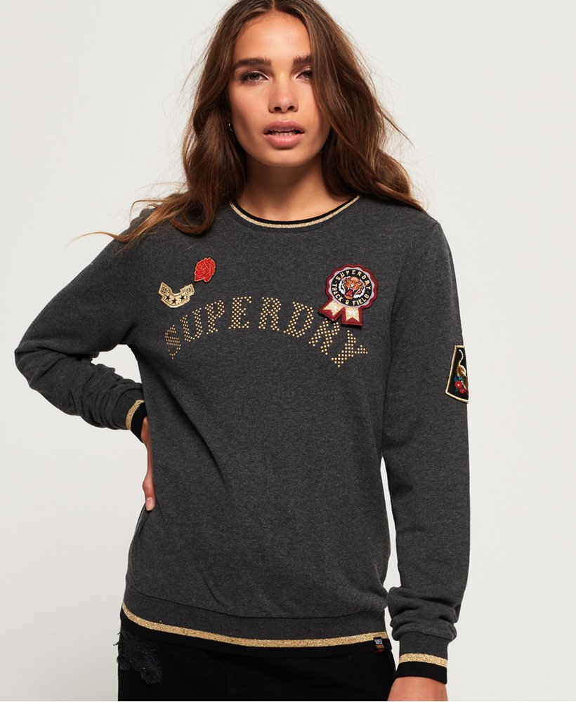 Superdry Rose Army Crew Neck Sweatshirt thumbnail 1