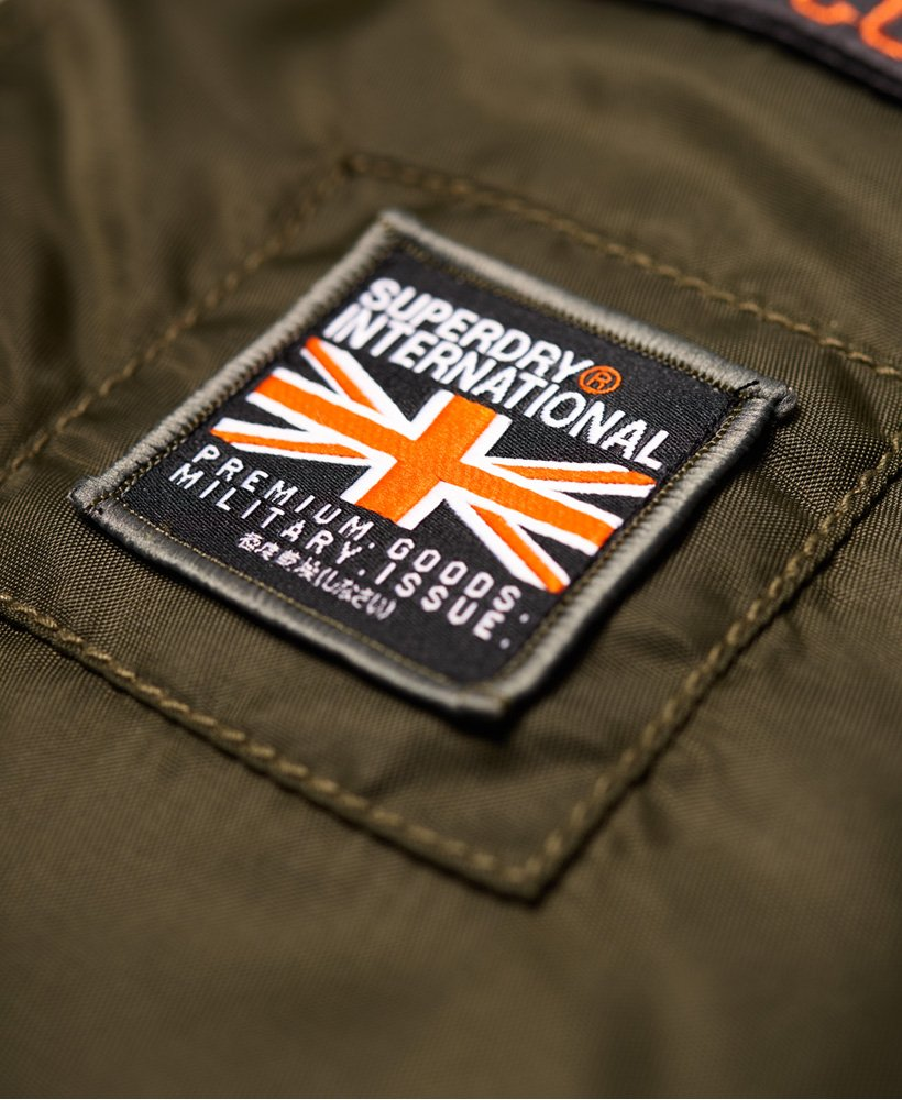 663342311 Superdry Patch Rookie Flight Bomber Jacket - Men's Jackets