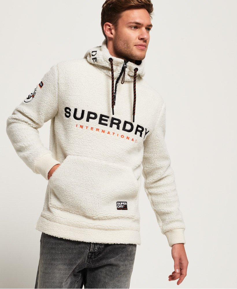 Superdry Mountain Sherpa Half Zip Overhead Hoodie Men's