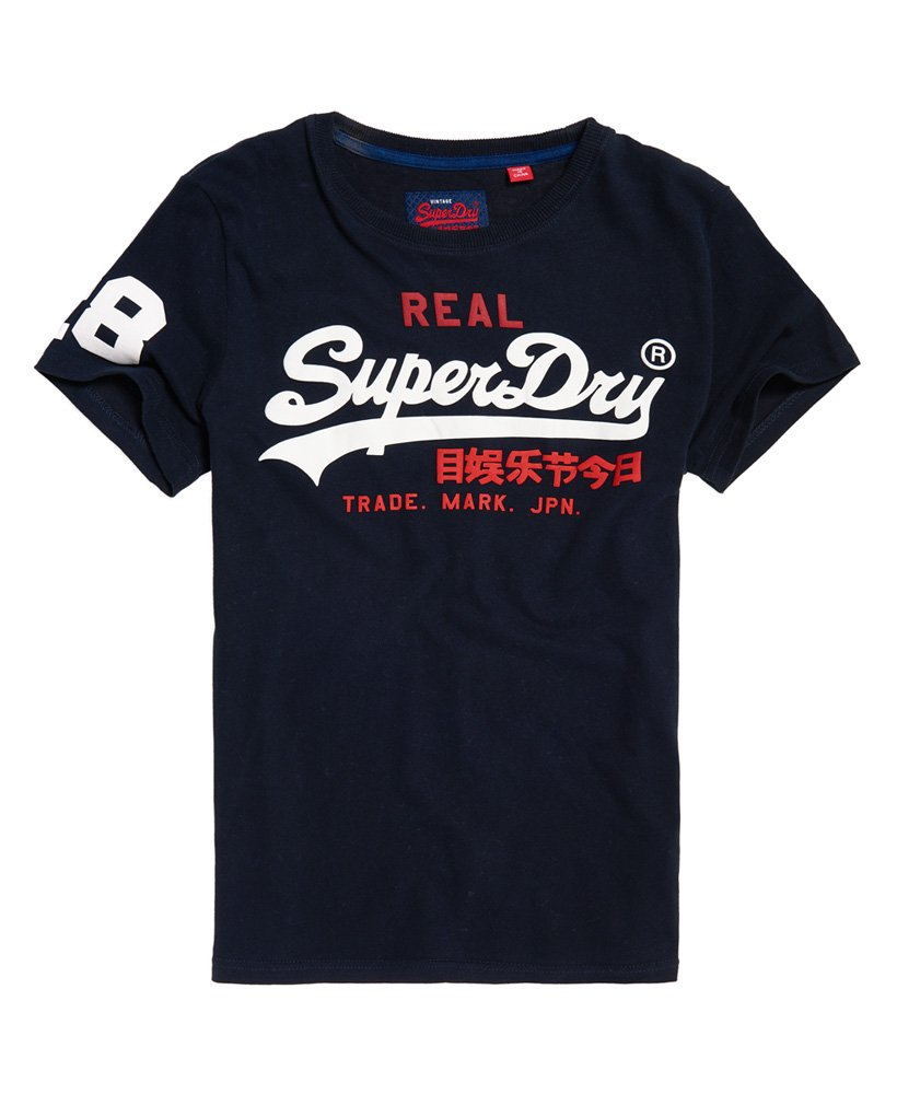 superdry vintage logo tri t shirt herren t shirts. Black Bedroom Furniture Sets. Home Design Ideas