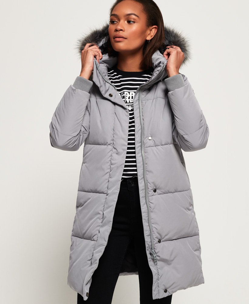 cbf4ea06a Womens - Cocoon Parka Jacket in Grey | Superdry