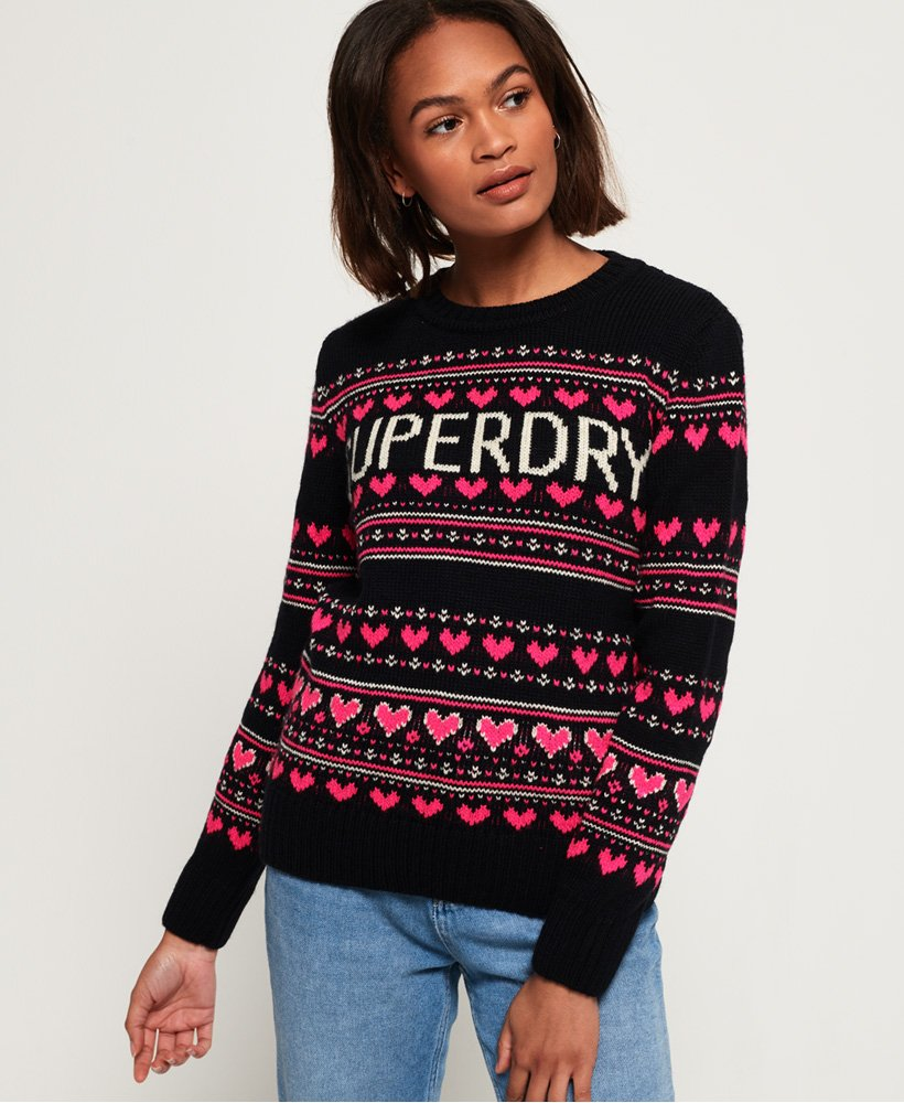 Superdry Cleveland Fairisle Knit Jumper thumbnail 1