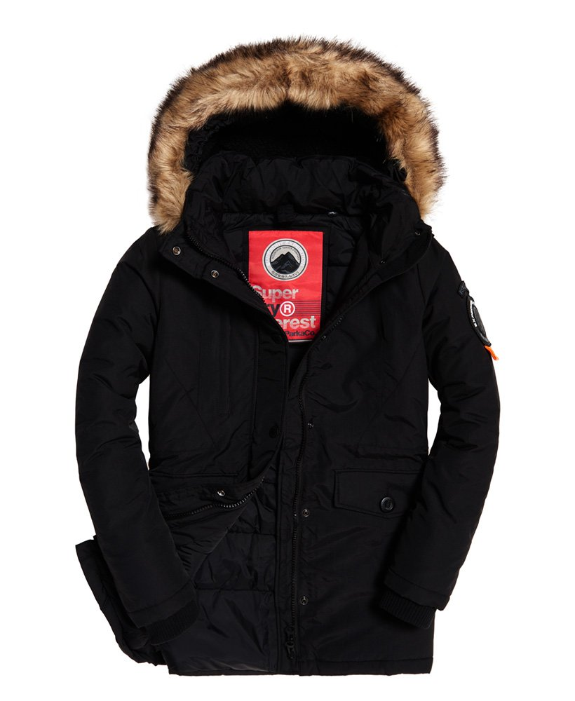 ashley everest jacke superdry schwarz günstig