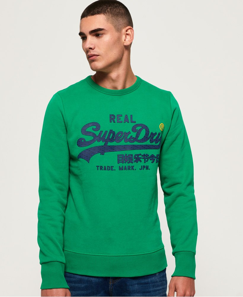Superdry Vintage Logo Panel Stripe Sweatshirt thumbnail 1