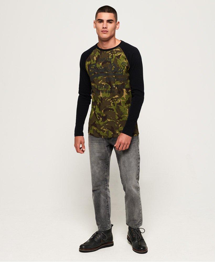 Superdry Shirt Shop Camo T skjorte med lange ermer Herre T