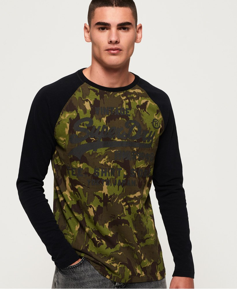 Superdry Shirt Shop Camo Long Sleeve T-Shirt thumbnail 1