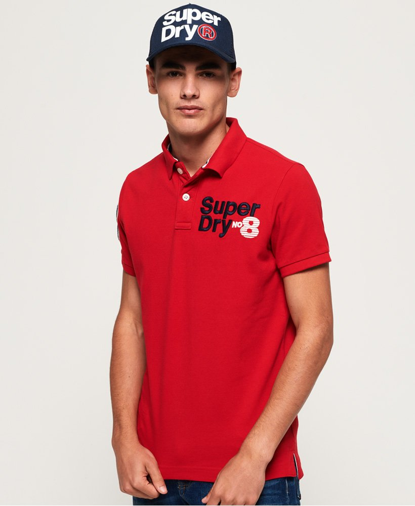 Superdry Classic CNY Superstate Pique Polo Shirt thumbnail 1