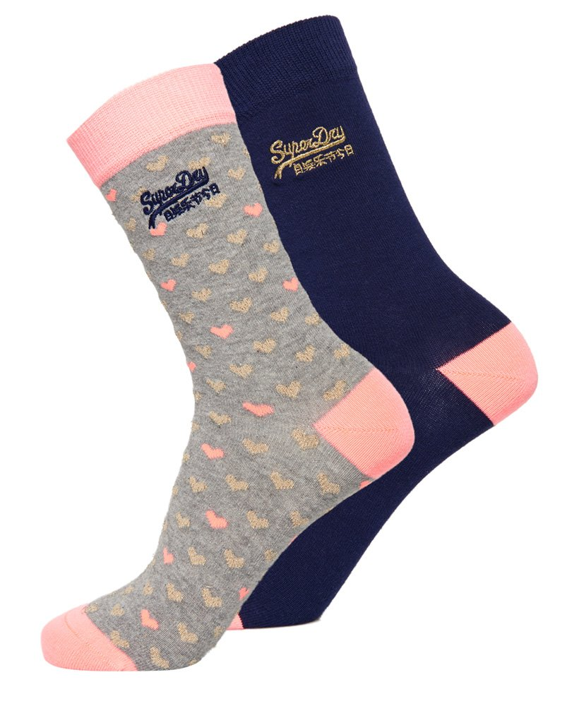 Superdry All Over Sparkle Socks Double Pack thumbnail 1
