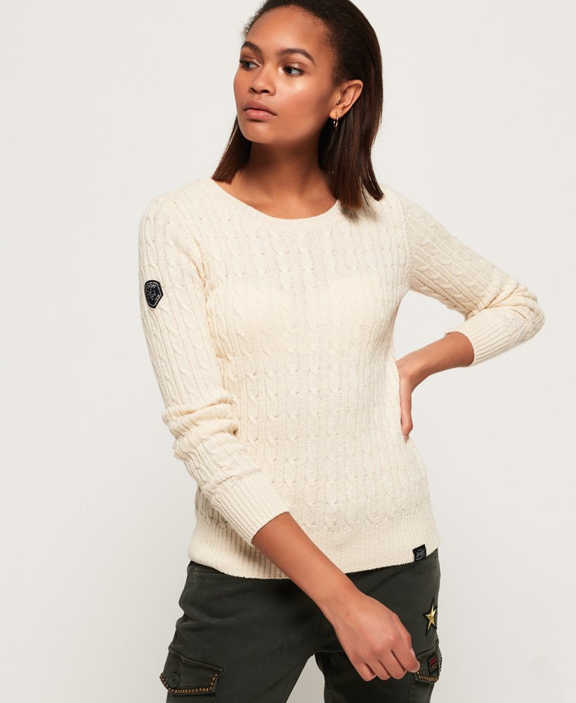 Superdry Croyde Cable Knit  thumbnail 1