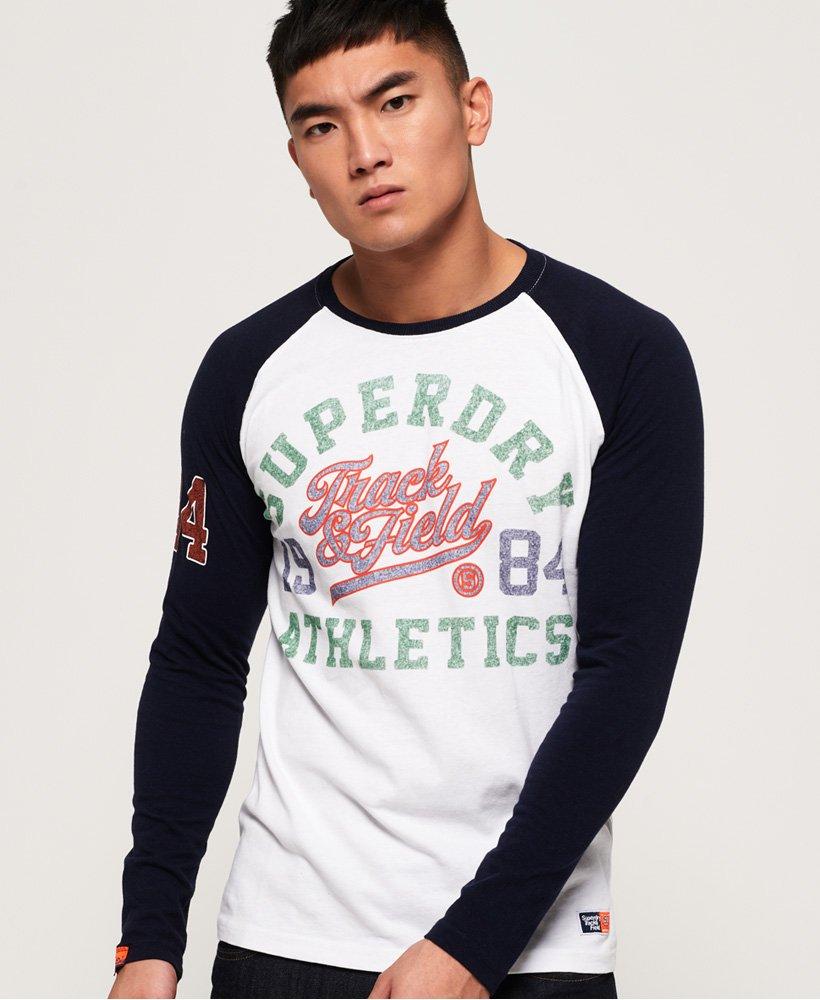 Superdry Track & Field Raglan T-shirt met lange mouwen thumbnail 1