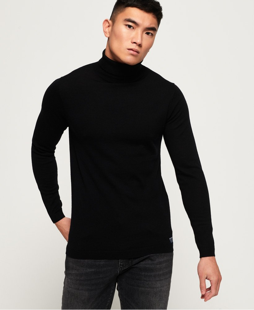 Superdry Merino Roll Neck Jumper thumbnail 1