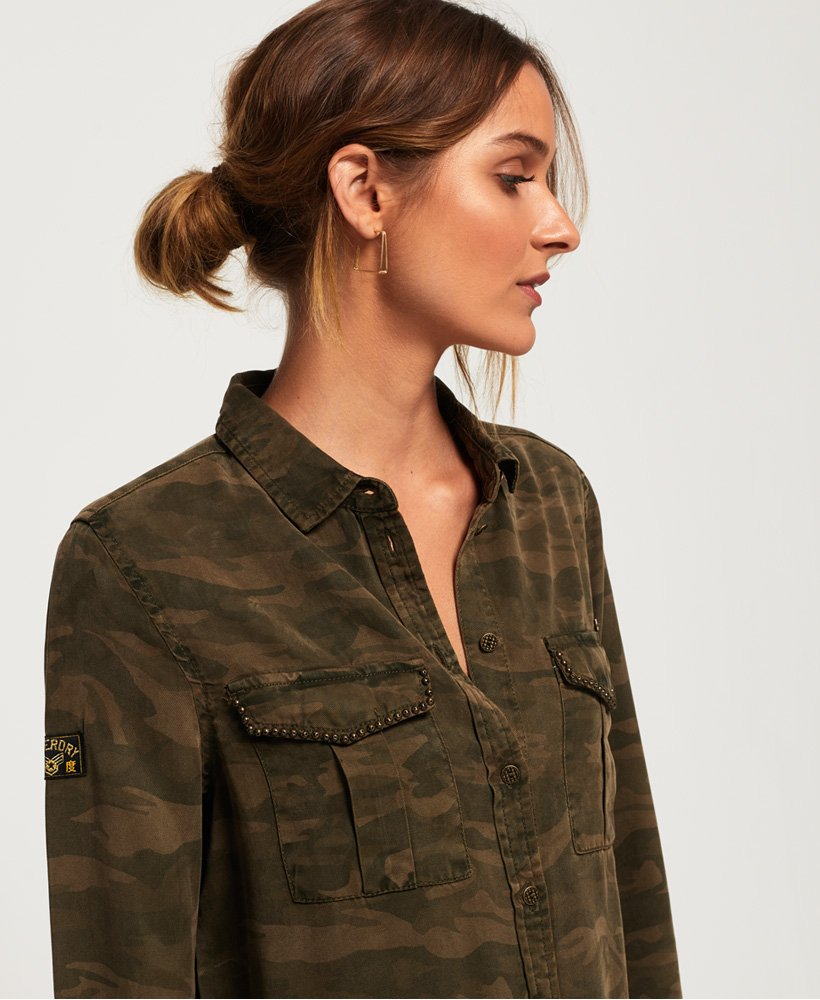 Superdry Roxanne Military Shirt thumbnail 1