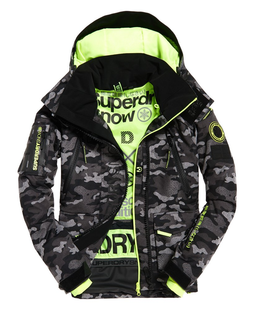 Mens Ultimate Snow Rescue Jacket In Contrast Camo Superdry