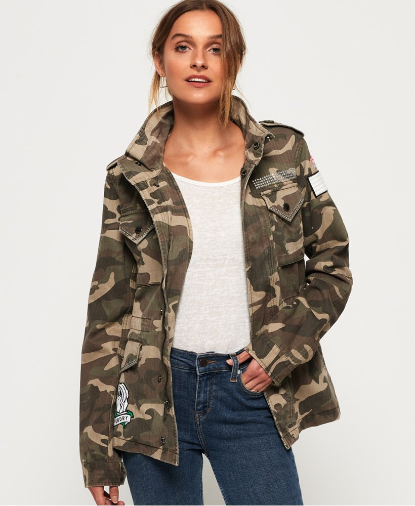 Superdry Rookie Embellished Military Jacket
