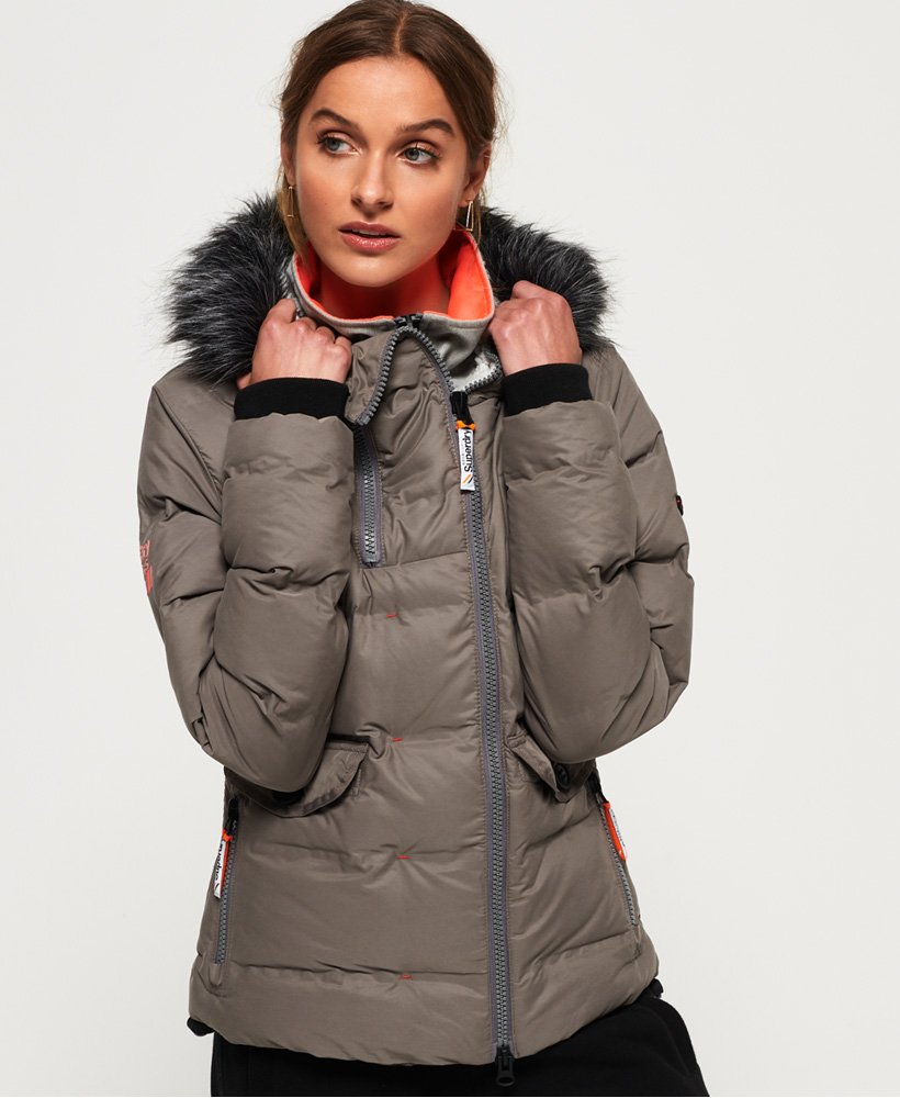 31c000829 Womens - SDX Superfibre Bomber Jacket in Dust Carbon | Superdry