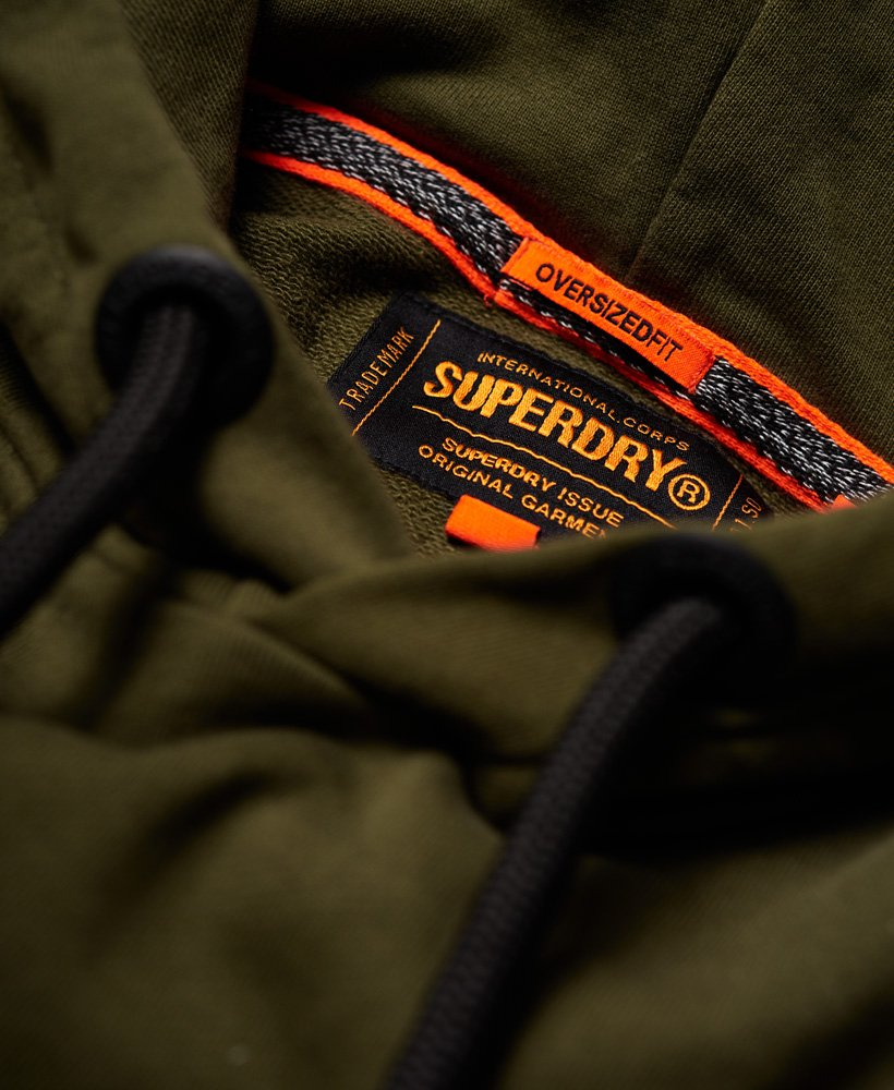 New Mens Superdry Rookie Oversized Hoodie Bright Olive