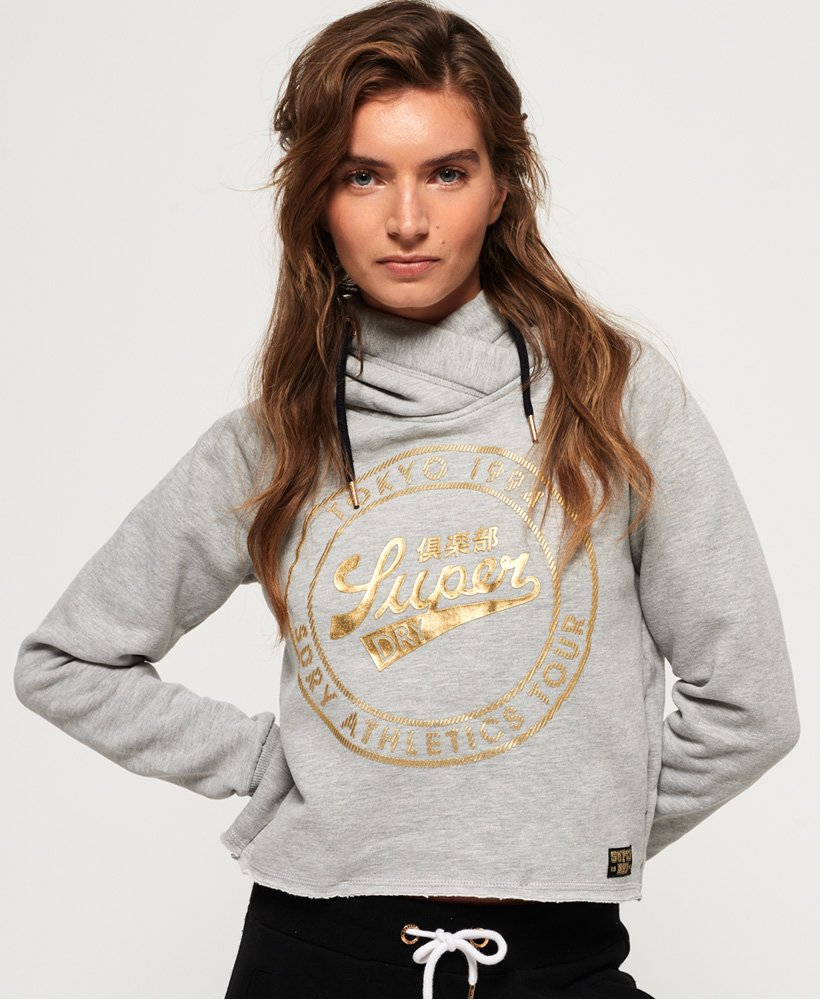 Superdry Ace Metallic Crop Hoodie  thumbnail 1