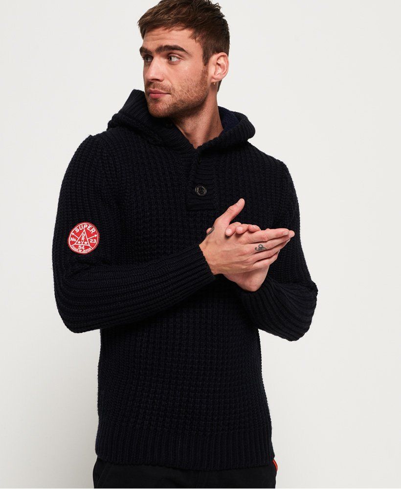 Superdry Ski Racer Henley Hooded Jumper thumbnail 1