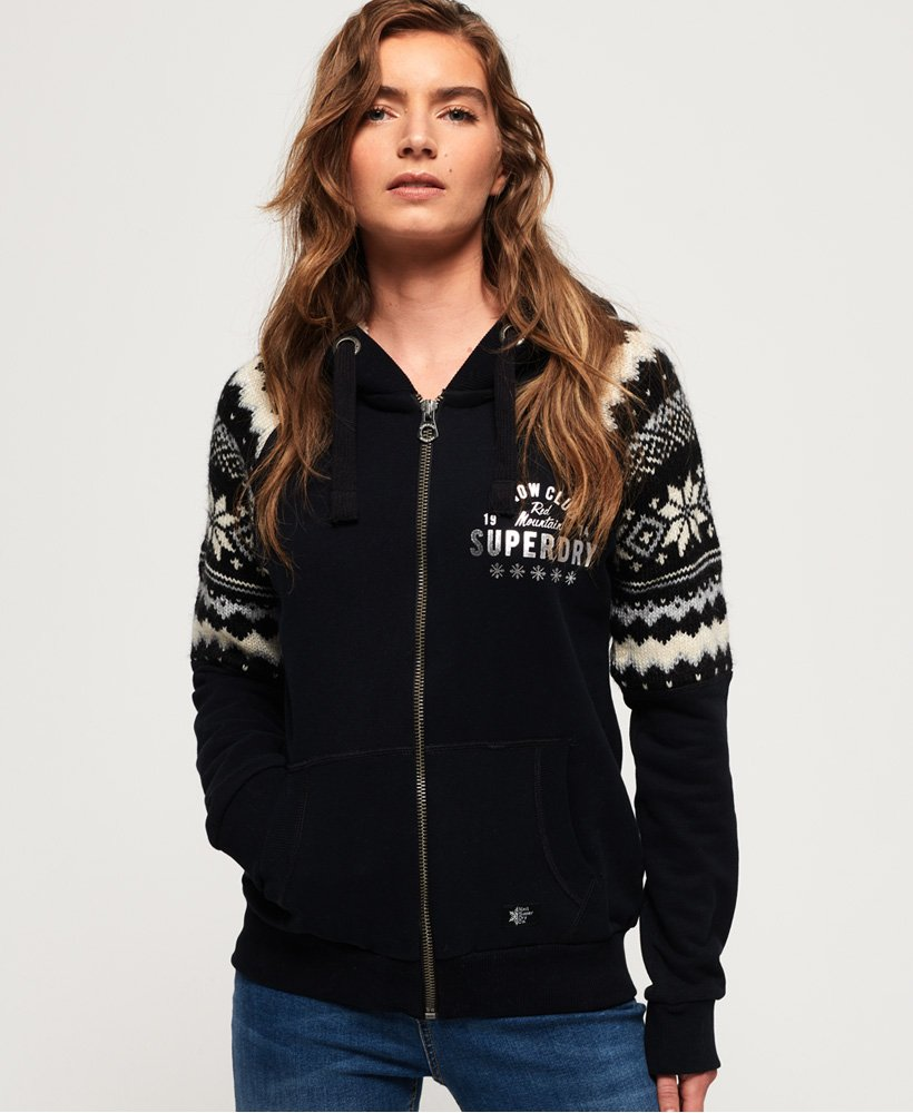 Superdry Dakota Fairisle Zip Through Hoodie thumbnail 1