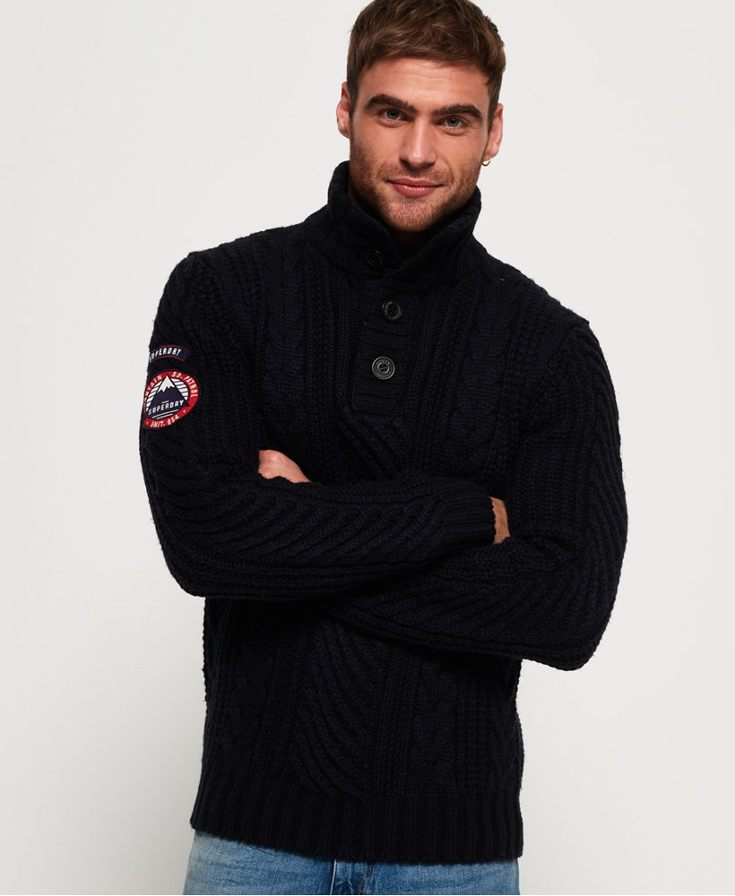 Superdry Montana Cable Henley Jumper