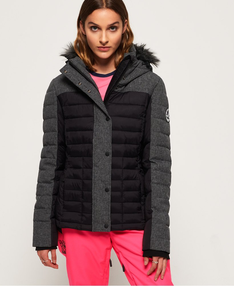 Superdry Elements Tweed Hybrid Hooded Jacket