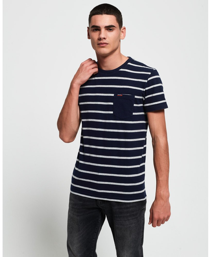 Superdry Portland Stripe Pocket T-Shirt thumbnail 1