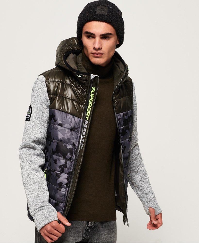 Superdry Storm Hybrid Camo Block hoodie met rits