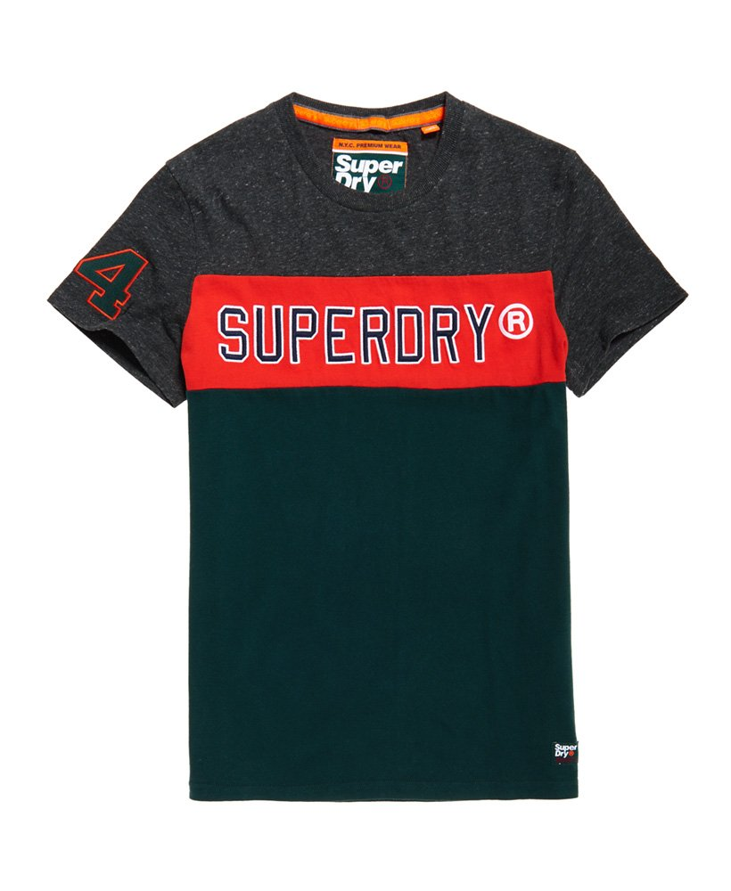 Superdry Applique Colour Block Short Sleeve T-Shirt