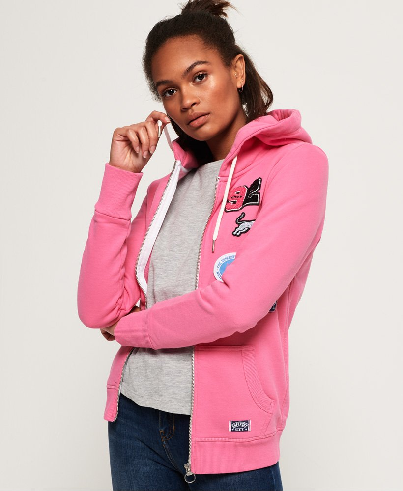 Superdry Logo Badge Zip Hoodie thumbnail 1