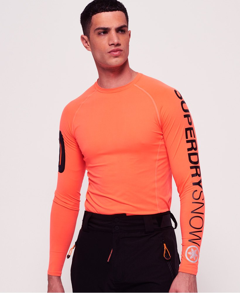 Superdry Carbon Base Layer-topp med rund hals